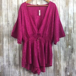NWT Victoria's Secret pink Kimono Romper